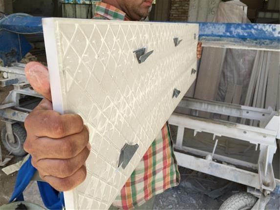 اسکوپ سنگ ساختمان با لقمه گذاری